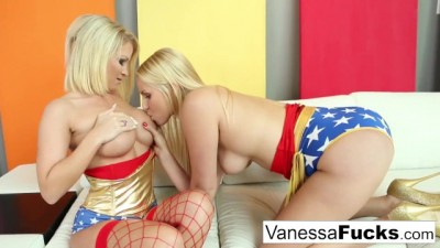 Vanessa Cage & Daisy are both Lesbian Superheroes for Halloween