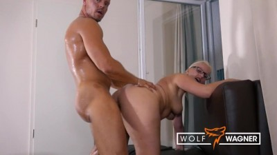 German Blondie JANA SCHWARZ FUCKED and Fed CUM!