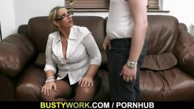 Fat Salesgirl is Boned from behind