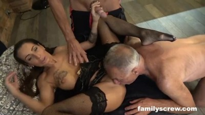 Insane StepFamily Fucking a Stripper