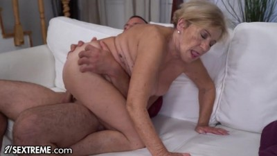 Big Titty Mature Loves Riding Young Cock