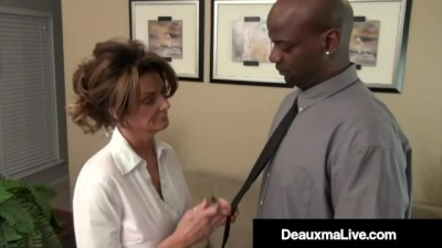 Busty MILF Boss Deauxma Banged by Big Black Dick Underling!