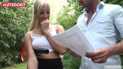 Casting Sex in the Forest with all Natural Czech Babe