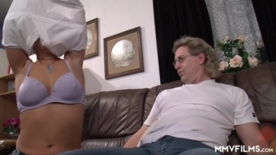 Blonde German Young does her Stepdad