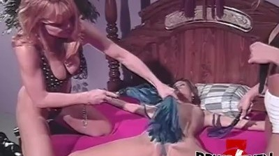 Alex Dane, Johnni Black and Yvonne Play with Whips