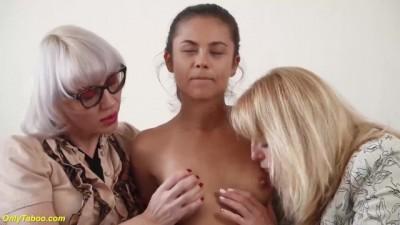 Wild Lesbian Threesome Orgy