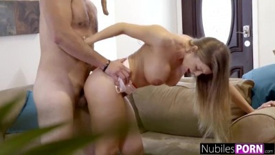Britney Amber Fucks For Her Life When A Robber Breaks In