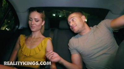 Tall skinny blonde Mazzy Grace likes big cock