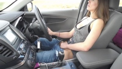 Masturbating In The Car While Driving