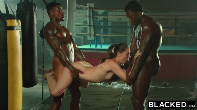 Tori Black Is Oiled Up And Dominated By Two BBCs