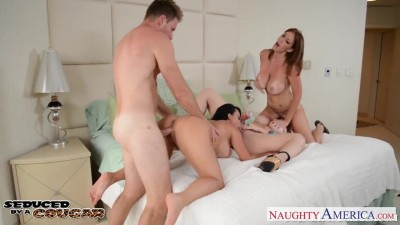 Cougars Charlee Chase, Holly Halston and Sara Jay fucking