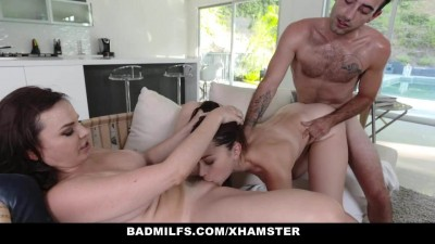Hot Milf Shares Cock with Step-Daughter