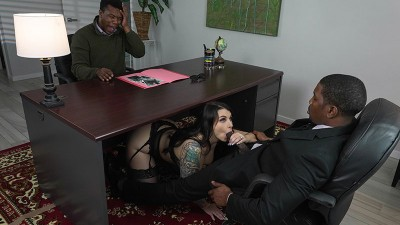 Extra thicc inked babe Ivy Lebelle craves BBC