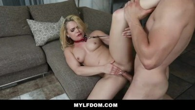 Horny Blonde Milf Gets Wet For Her Husbands Son