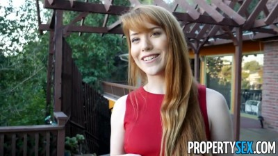 Sexual favors from redhead real estate agent