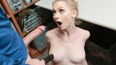 Cute Blonde Athena Rayes Fucked In The Security Room