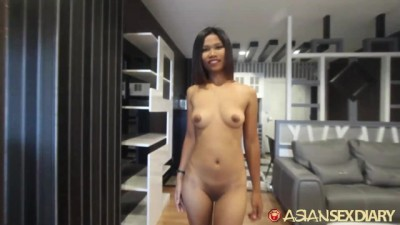 Sexy Asian Teen Slides Big Dick In Creamy Pussy