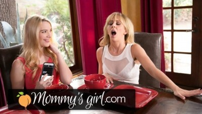 Daughter Controls Step Mommy's Vibrating Panties at Dinner