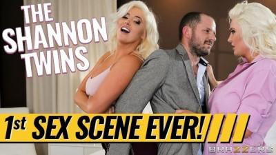 Karissa Shannon & Kristina Shannon share one lucky cock