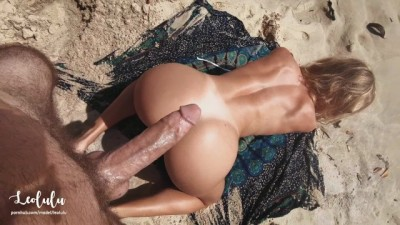 Sex on a Perfect Beach! Cum everywhere and keep fucking
