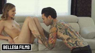 Skinny Kristen Scott gets pounded by inked dude