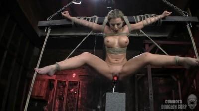 athena angel suspended over fucking machine BONDAGE !