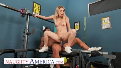 Abby Adams fucks her friend's dad in an empty gym