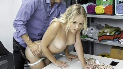 Pretty Busty Blonde Gets Fucked Hardcore By Big Dick Security