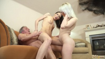 Best old and young fuck Stepgrandpa getting his cock sucked