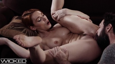 Redhead Lacy Lennon Pounded on the Couch