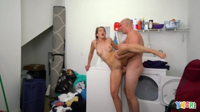 Blonde Kandy Summer Fucked after doing the Laundry