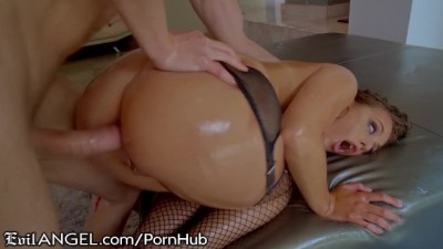 Gia Derza's Ass Oiled up for Hard Shaft & Cum Shower