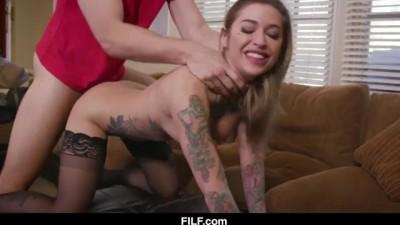 Stepmom Kleio Valentien Teaches her Stepson how to Fuck