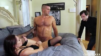 Horny MILF Aidra Cucks her Husband and Gets a Rough Fuck