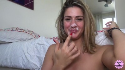 Tall Blonde girl Gets Fucked and Spunked!
