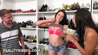Megan Sage and Adrian Maya Share Cock for Cash