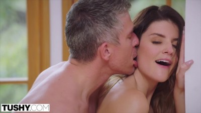 Busty Brunette Gets her Ass Dominated by Boss