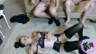Mischief being a Good Slut for Two Dicks!