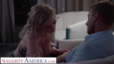 Big Tit Blonde Pornstar Casca Akashova Takes Care of Client