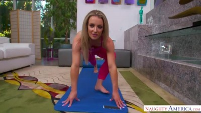 Hot Fucking Yoga with Horny Blonde Wife Kate Kennedy