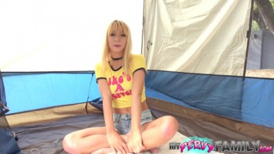 Hot Petite Sister Gets Fucked in the Tent while Camping