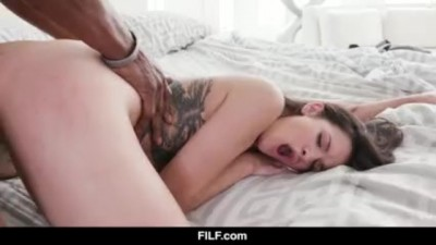 Eden Sin is Obsessed by her Stepdad's Huge Black cock