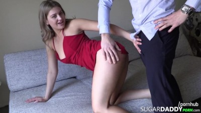 Blonde College Teen SugarBaby FUCKS Daddy
