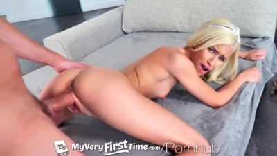 First time fuck for petite blonde Kiara Cole