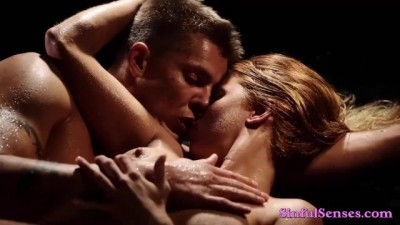 Hot Passionate Couple Enjoy Steamy Erotic Wet Sex
