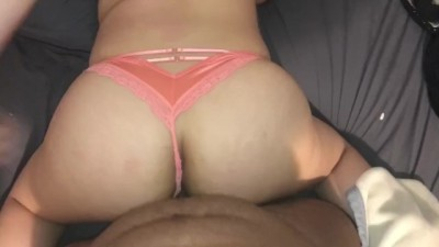 Asian with Fat Ass Thowing it back and Riding