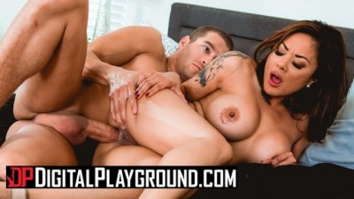 Busty Asian Housewife Kaylani Lei Loves Anal