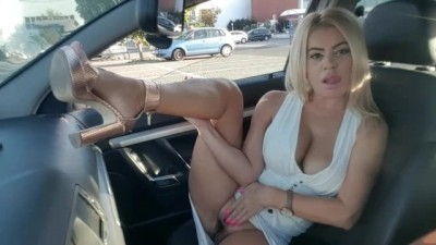 Fake Taxy Driver Cum a Lot in my Mouth, Public Masturbation