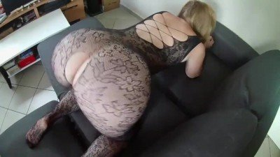 A Woman in Sexy Lingerie and Perfect Ass Gets