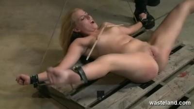 Blonde Womens Legs are Spread Wide